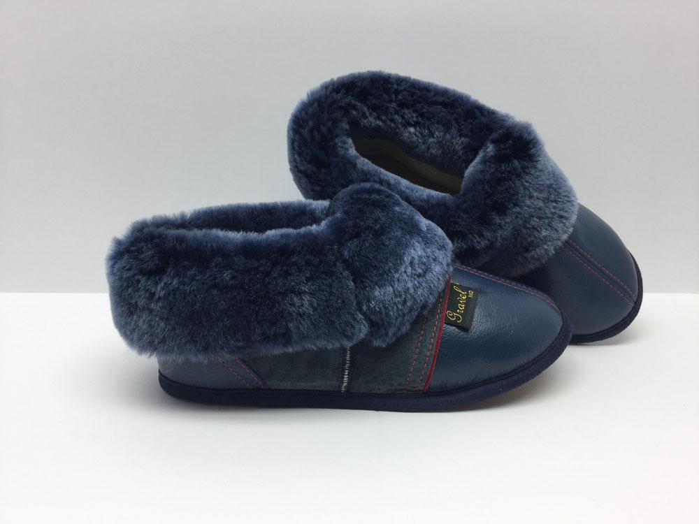 Pantoufles pour Femmes bleu jean